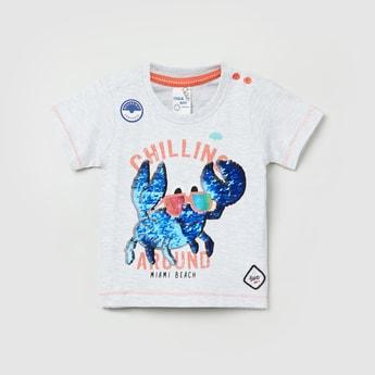 MAX Embellished Short Sleeves T-shirt