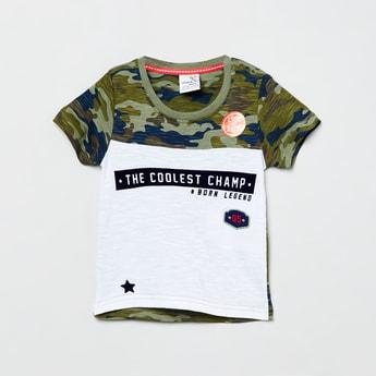MAX Camouflage Print Crew Neck T-shirt