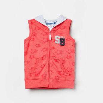 MAX Printed Hooded Zip-Closure Jacket