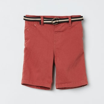 MAX Solid Shorts with Detachable Belt