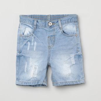 MAX Distressed Low Rise Denim Shorts