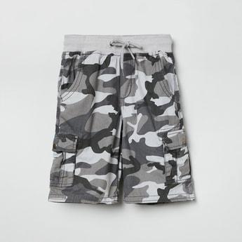 MAX Camouflage Print Drawstring Waist Bermudas