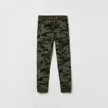 MAX Camouflage Print Drawstring Waist Joggers