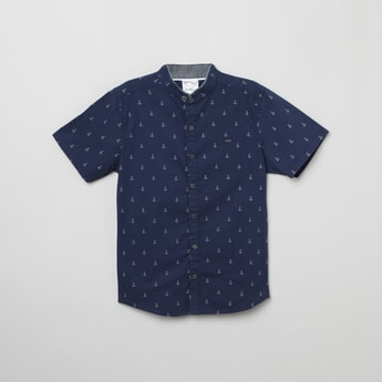 MAX Mandarin Collar Printed Casual Shirt