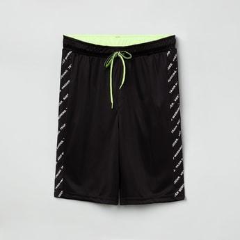 MAX Printed Panel Drawstring Waist Shorts