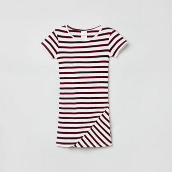 MAX Striped Ribbed Sheath Dress