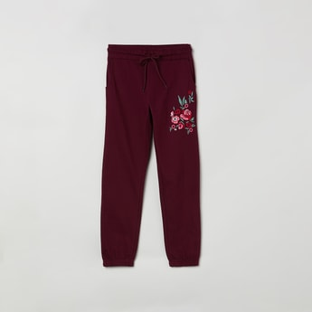MAX Floral Embroidery Joggers