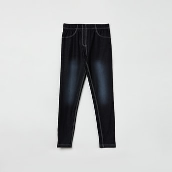 MAX Stonewashed Jeggings with Scoop Pockets