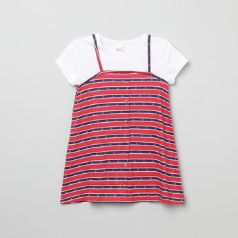 MAX Striped Dress with T-shirt