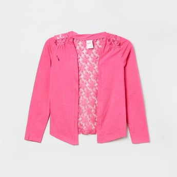 MAX Solid Lace Shrug