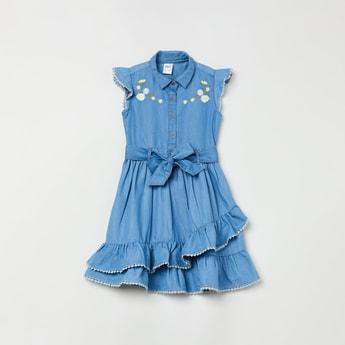 MAX Embroidered Denim Dress