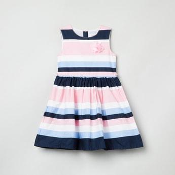 MAX Striped Sleeveless Dress