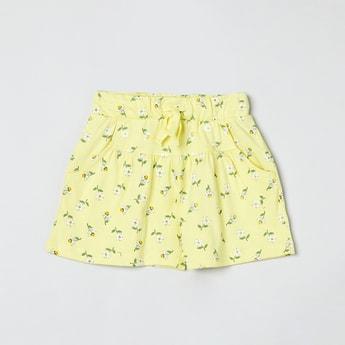 MAX Floral Print Flared Shorts