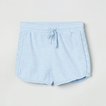 MAX Textured Shorts with Drawstring Waistband