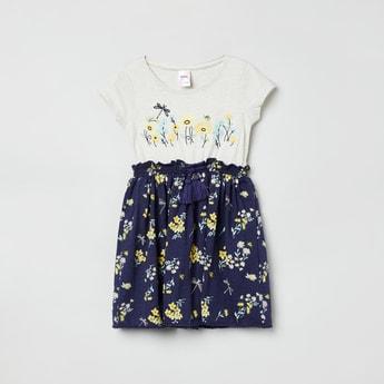 MAX Printed Cinched Waist Dress
