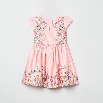MAX Floral Print Fit-and-Flare Dress