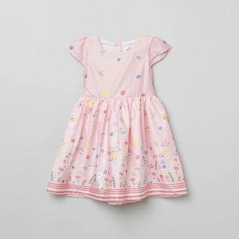 MAX Printed Half-Sleeves Dress