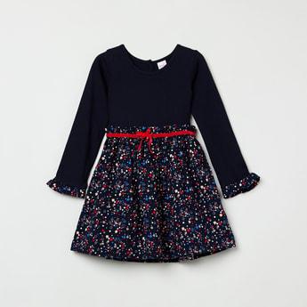 MAX Floral Print Full Sleeves Dress