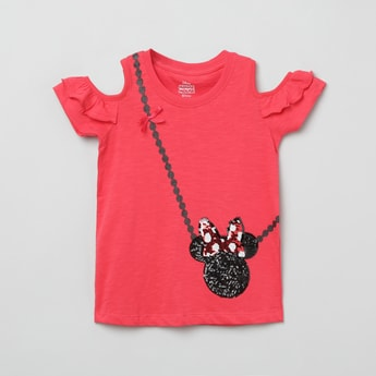 MAX Embellished Round Neck Top