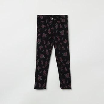 MAX Floral Print Full Length Jeans