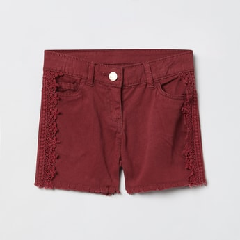 MAX Solid Lace Detail Shorts