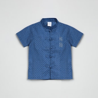 MAX Printed Mandarin Collared Shirt