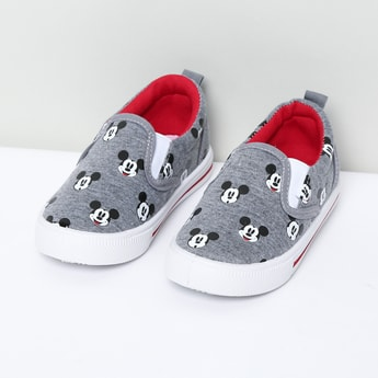 MAX Mickey Print Slip-On Shoes