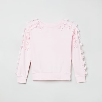 MAX Floral Embellished Full Sleeves T-shirt