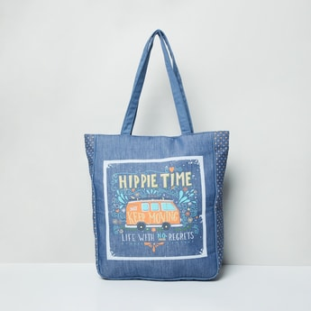 MAX Graphic Print Tote Bag