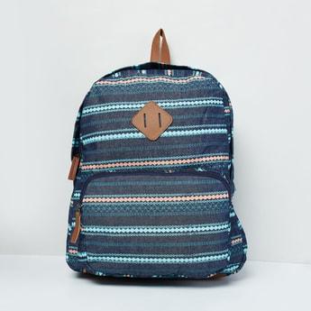 MAX Striped Denim Backpack