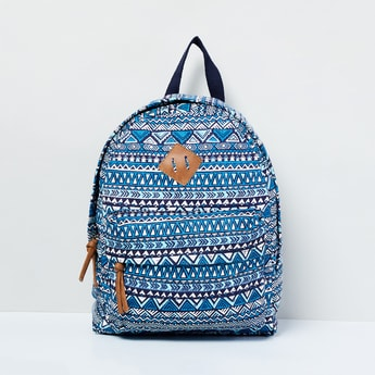 MAX Printed Zip-Up Closure Backpack
