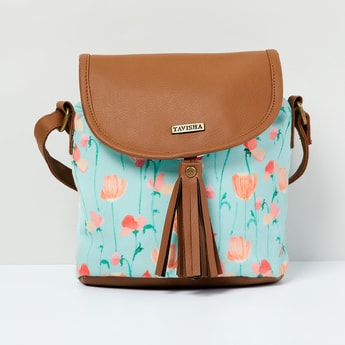 MAX Floral Print Colourblock Backpack