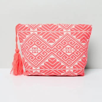 MAX Jacquard Patterned Cosmetic Pouch