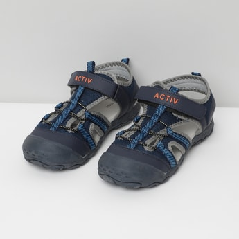 MAX Solid Velcro-Strap Sandals