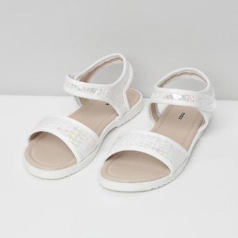 MAX Textured Velcro Strap Sandals