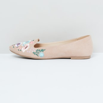 MAX Embroidered Ballerina Flats