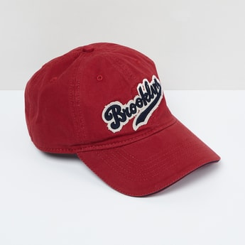 MAX Typographic Applique Baseball Cap