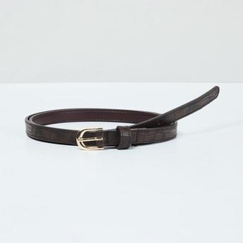 MAX Reptilian Texture Slim Belt