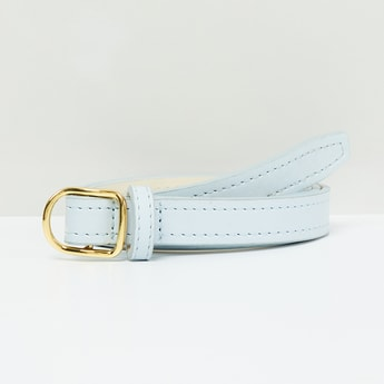 MAX Slim Belt with Running Stitch Detail