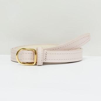 MAX Slim Belt with Running Stitch Detail