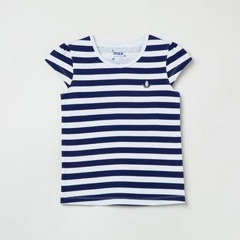 MAX Cutaway Sleeves Striped T-shirt
