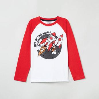 MAX Printed Raglan Full Sleeves T-shirt