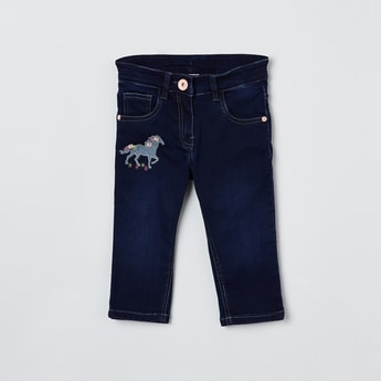 MAX Appliqued Slim Fit Jeans
