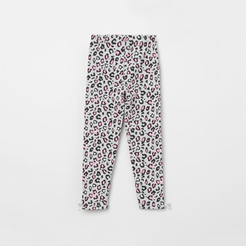MAX Animal Print Leggings with Bow Detail