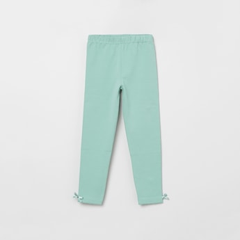 MAX Solid Leggings with Bow Detail