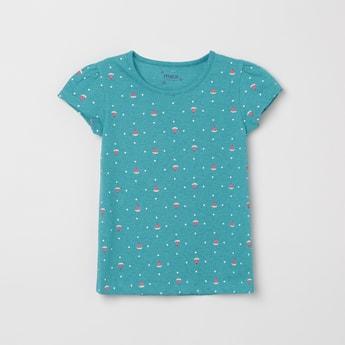 MAX Printed Rund-Neck T-shirt