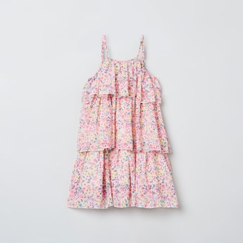 MAX Printed Tiered Dress
