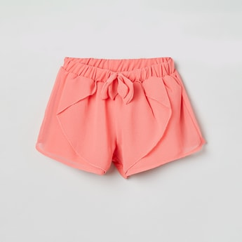 MAX Solid Shorts with Ruffled Layer