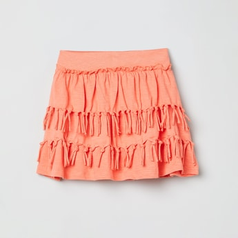 MAX Tiered A-line Skirt