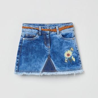 MAX Stonewashed Denim Skirt